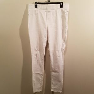Womens skinny white jeggings - Old Navy - size 14